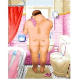 Baño Botero, hombre