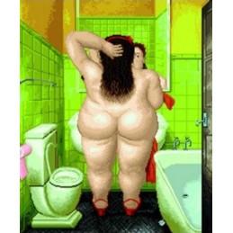 Baño Botero, mujer