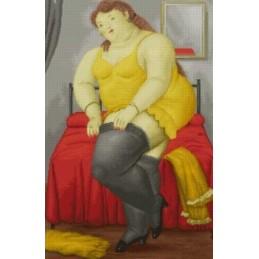 Mujer Vistiéndose, Botero