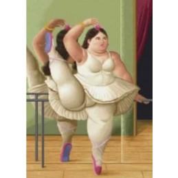 Bailarina en la barra, Botero